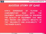 success story of qa i17