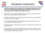 hardware inspection