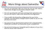 more things about samantha