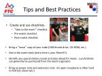 tips and best practices21