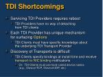 tdi shortcomings