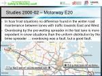 studies 2000 02 motorway e20