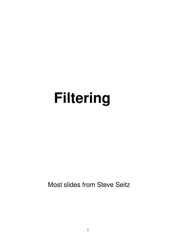 filtering l.