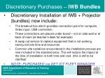 discretionary purchases iwb bundles