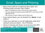 email spam and phishing