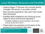 local windows accounts and eduweb