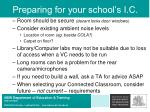 preparing for your school s i c20