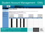 student account management emu43