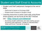 student and staff email accounts