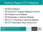 sydney region ict initiatives