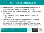 t4l 2009 continued
