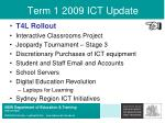 term 1 2009 ict update