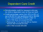 dependent care credit