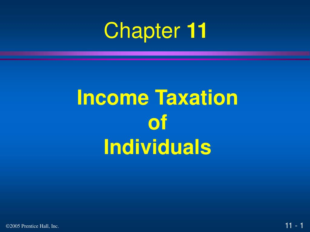 income taxation of individuals l.