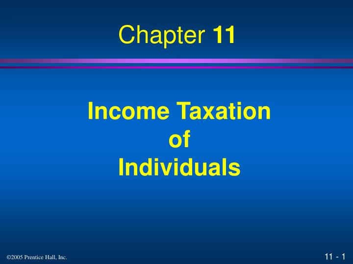 income taxation of individuals n.
