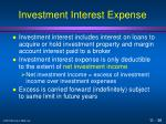 investment interest expense