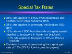 special tax rates