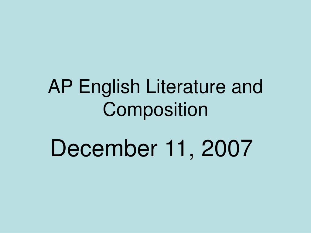 ap english literature and composition l.