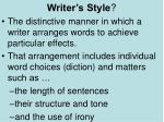 writer s style