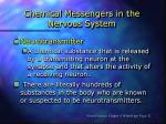 chemical messengers in the nervous system