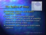 the realms of sleep