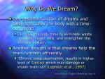 why do we dream