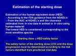 estimation of the starting dose11