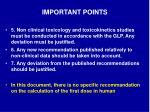 important points7