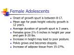 female adolescents