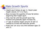 male growth spurts