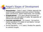 paiget s stages of development