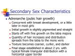 secondary sex characteristics102
