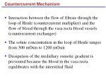 countercurrent mechanism