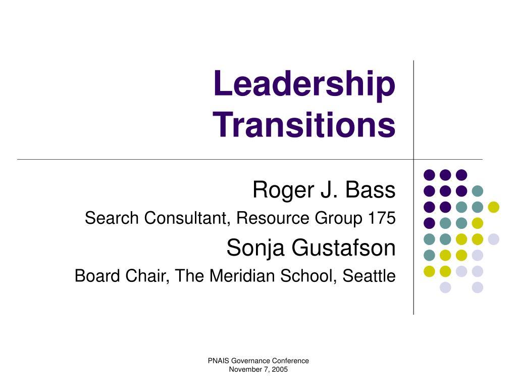 leadership transitions l.