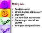 making lists12