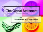 the global statement with thanks to mr scott purdy