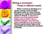 writing a conclusion thesis in different words