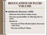 regulation of fluid volume