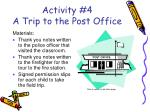 activity 4 a trip to the post office