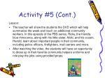 activity 5 cont