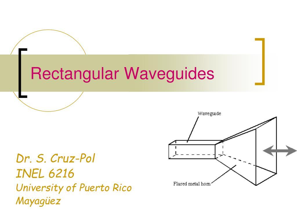 rectangular waveguides l.