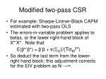 modified two pass csr
