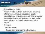 about kfupm