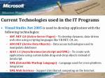 current technologies used in the it programs