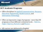 hct academic programs
