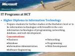 it programs at hct27