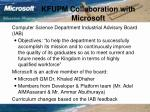 kfupm collaboration with microsoft