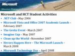 microsoft and hct student activities