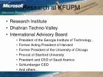 research at kfupm