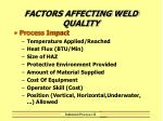 factors affecting weld quality22